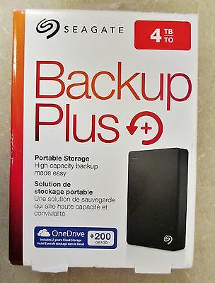 Seagate Backup Plus 4TB Portable External Hard Drive - 200GB of Cloud Storage
