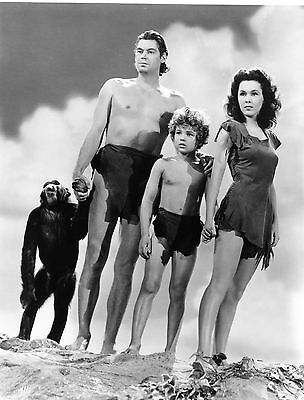 "RARE STILL JOHNNY WEISMULLER WITH CAST FROM ""TARZAN"""