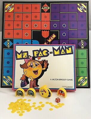 Ms. PAC-MAN - Milton Bradley Board Game. Vintage 1982 BALLY MIDWAY. In Good Cond