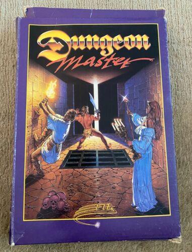 "1986 FTL Dungeon Master Atari ST Computer 3.5"" Floppy Disk Game DB One Megaroids"