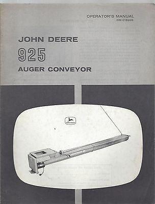 John Deere 925 Auger Conveyor Operators Manual Om-c16995