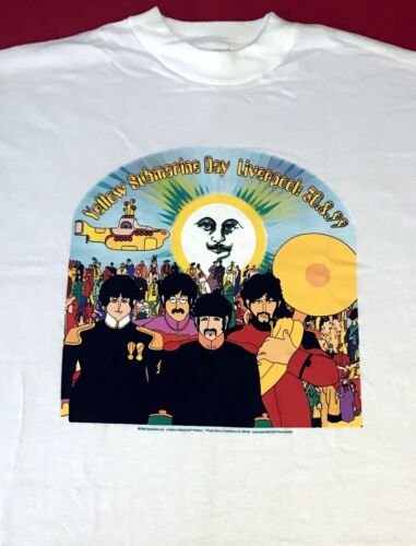 VTG BEATLES Yellow Submarine Day in LIVERPOOL T - SHIRT LG or XL New Condition