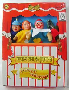 NEW PUNCH AND JUDY PLAY SET PUPPET SHOW 4 HAND PUPPETS THEATRE PADG LARGE