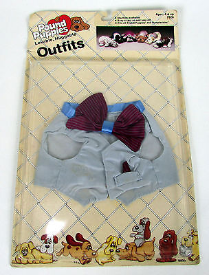 Vintage 1986 Pound Puppies Outfits Vest & Bowtie Tonka Corp. 7806 Unopened