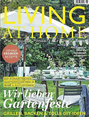 Zeitschrift LIVING AT HOME - Ausgabe 6/18 - einmal gelesen