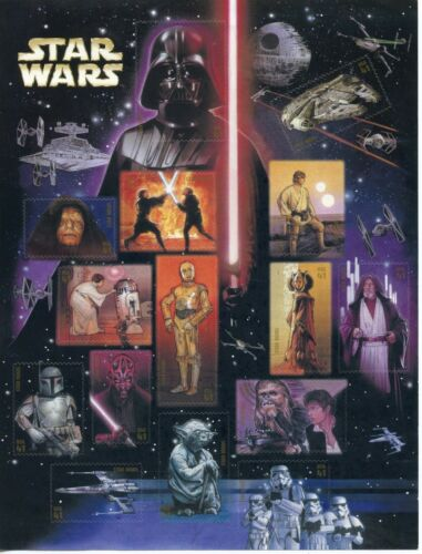 Scott # 4143 Star Wars Movies. Sheet of (15) 41 Cent Stamps