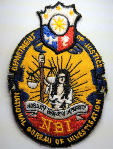 Phillipines National Bureau of Investigation Police Patch // FREE US SHIPPING!