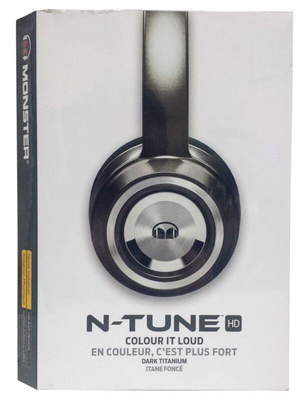 Monster N-Tune On-Ear Headphones Pearl Gray 128579-00