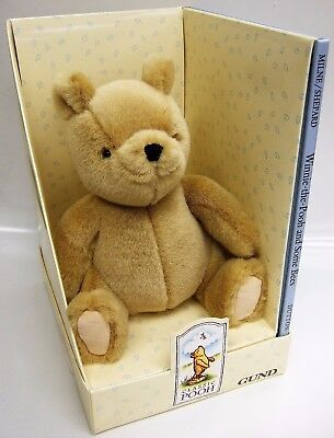 """Gund Classic Winnie the Pooh Bear Plush & Some Bees Book """" Old store stock/New"""""""