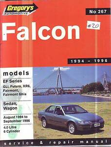 FORD FALCON EF  & XR6  6 CYL WORKSHOP SERVICE MANUAL  8/94-9//96 Sefton Bankstown Area Preview