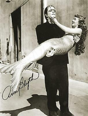 HOLLYWOOD Actress MERMAID & FRANKENSTEIN Vintage PHOTO *CANVAS* Art PRINT