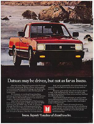 Original 1982 Isuzu Diesel Truck Print Ad Vintage Advertisement Ad