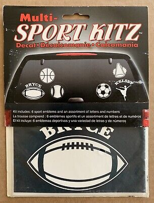"Multi Sports Decals ""Chroma"" Made In USA For Cars, Trucks & Motorcycles"