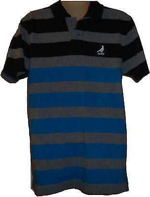 Mens AEROPOSTALE Aero Dove Logo Skate Striped Jersey Polo Shirt NWT #2440