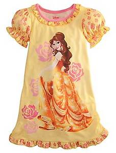 Disney-Princess-Beauty-And-The-Beast-Belle-Nightgown-Pajamas-Size-7-8