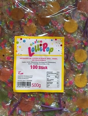 (1000g=5,98€) 100 Capico Lutscher Karneval Fasching Wurfmaterial Kamelle 500g