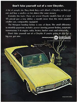Vintage 1965 Magazine Ad Chrysler Dont Fake Yourself Out Of A New Chrysler