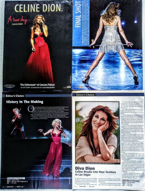 CELINE DION LAS VEGAS CLIPPINGS