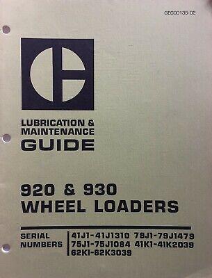 Caterpillar 920 930 Wheel Loaders Lubrication Maintenance Guide