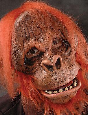 Orangutan Mask (Orangutan Monkey Ape Latex Adult Halloween Mask Action Mouth)