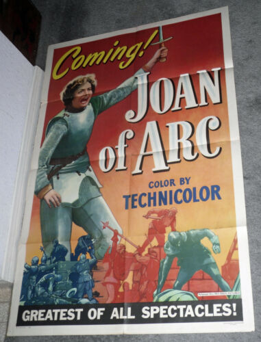 JOAN OF ARC original 1948 style a ADVANCE one sheet movie poster INGRID BERGMAN