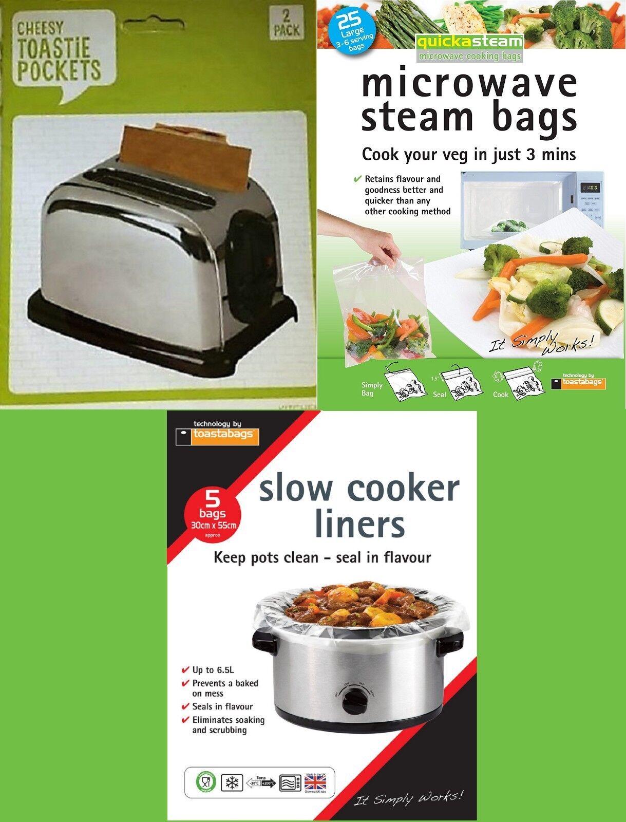 Toasted Sandwich Pockets,Roast Bag,Steam Bags,Slow Cooker Li