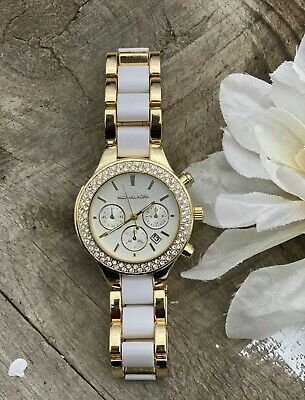 Michael Kors Parker 38mm Gold white Watch for Women MK watch