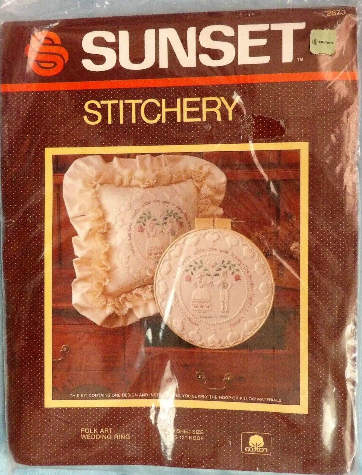 1983 folk art wedding ring embroidery kit