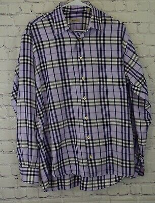 Burberry London Nova Check Shirt Mens Size L Long Sleeve
