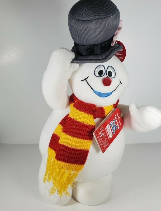 """HALLMARK Singing Dancing Frosty the Snowman 14"""" Plush-He Sings, Spins W/TAGS"""