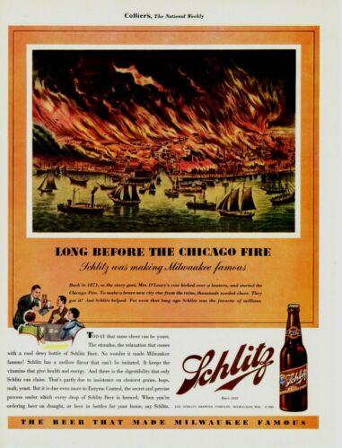 1935 ORIGINAL VINTAGE SCHLITZ BEER MAGAZINE AD