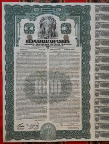 US caribbean island bond 1937 external debt 4.5%, 32 coupons uncancelled; ABNC
