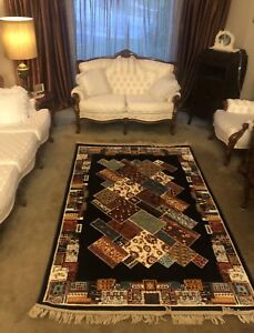 Beautiful Persian rug carpet /wool and silk