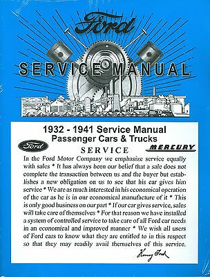 1932 34 35 36 37 38 39 41 FORD/MERCURY CAR SHOP MANUAL