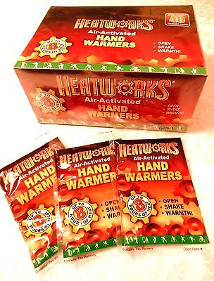 40 Pairs Of Hand Warmers By Heatworks  Up To 8 Hrs  Snow Cold Camping  Survival