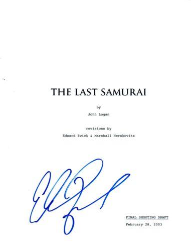 Edward Zwick Signed Autographed THE LAST SAMURAI Movie Script Screenplay COA