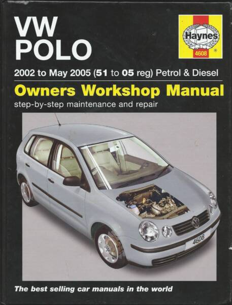 volkswagen polo workshop manual other parts accessories rh gumtree com au 2012 Volkswagen Polo Volkswagen Polo Hatchback Laggage Size