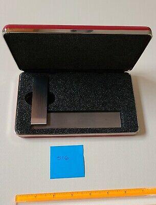 Starrett 55-4 12 Master Precision Square Wbeveled Edges W Case - Mint Cond