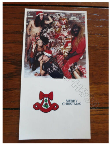 Alice In Chains Christmas Card + coa! Layne Staley Mike Starr facsimile signed