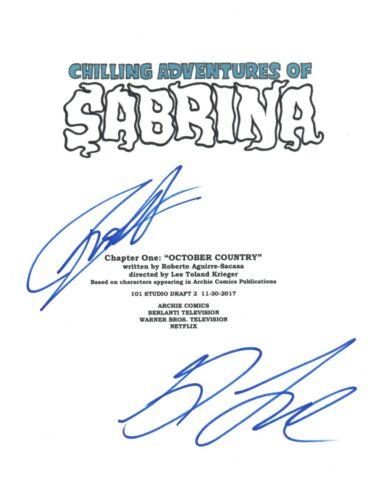 CHILLING ADVENTURES OF SABRINA Signed Pilot Script Ross Lynch & Gavin COA
