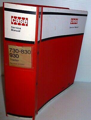 Case Vintage 730 830 930 Tractors Service Manual Wbinder