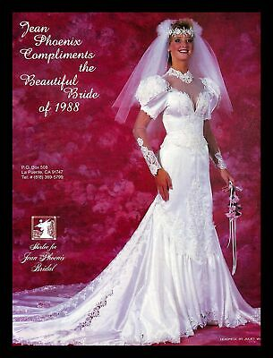 1988 Shirlee Jean Phoenix Bridal Wedding Dress Vintage PRINT IMAGES Marriage 80s