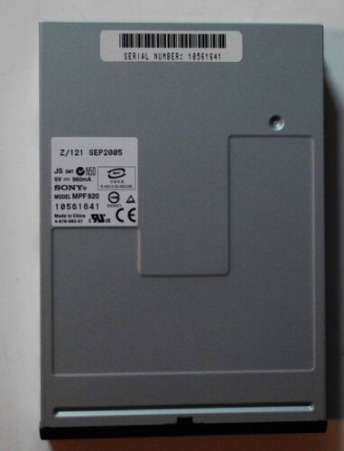 """Sony MPF920 1.44MB 3.5"""" Internal Floppy Disk Drive (Black)never used"""