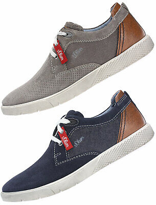 S.oliver Herren Sneaker Slipper Stoffschuhe 5-5-13605-21//805 Blau Neu