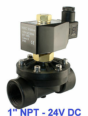 1 Inch Normally Open Plastic Electric Water Zero Pressure Solenoid Valve 24v Dc