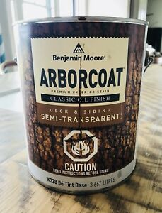 Benjamin Moore's  Arborcoat Semi-Transparent Oil Stain -