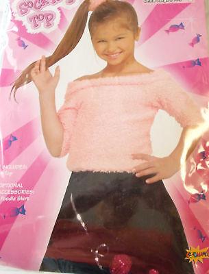 50's Pink Sock Hop Pink Top Child Costume 8-10 12-14 - Kids Sock Hop
