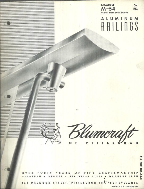 Blumcraft Aluminum Railings Catalog Vintage Mid-Century Modern Architectural