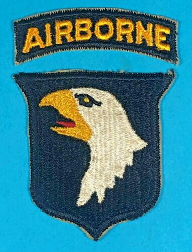 WW 2, 101st Airborne Division, Yellow Eye, Full Embroidered, Exc. Condition, #6
