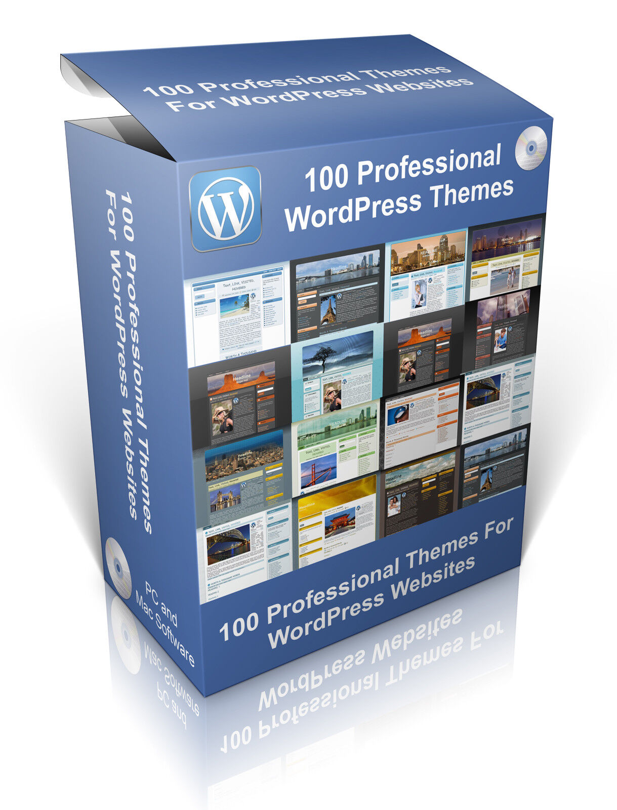 100 Professional Themes For WordPress Websites, Design Your Own websites.